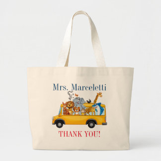 Cute Teacher, School Bus Driver, Daycare Tote Bag