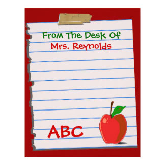 Cute Teacher Stationery