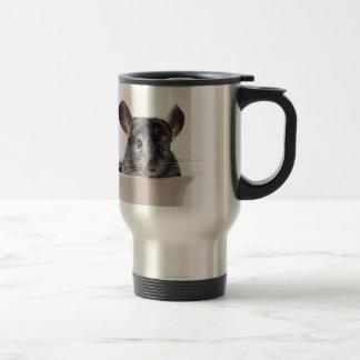 Cute Teacup Chinchilla Grey Travel Mug