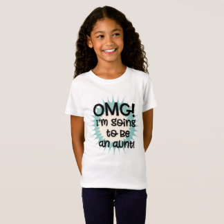 Cute Teal and White OMG I'm Going to Be an Aunt T-Shirt