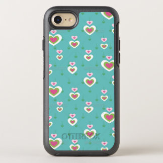 Cute Teal Hearts iPhone 7 OtterBox