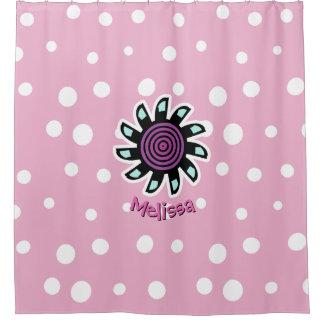 Cute Teal Purple Flower Custom Background Color Ba