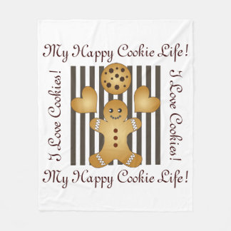Cute Team Cookie Cartoon Personalized Kids Fleece Blanket