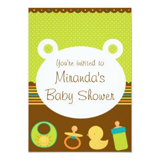 Cute Teddy Bear Baby Shower Invitations