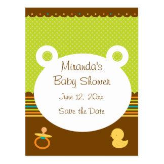 Cute Teddy Bear Baby Shower Postcard