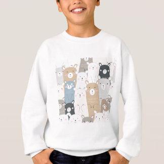 cute teddy bear blue grey pastel pattern sweatshirt