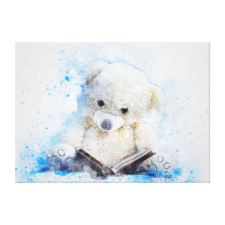 Cute Teddy Bear Canvas Print