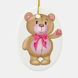Cute Teddy Bear Ceramic Ornament