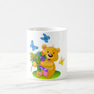 Cute teddy bear coffee mug