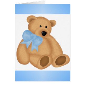 Cute Teddy Bear, For Baby Boy Card