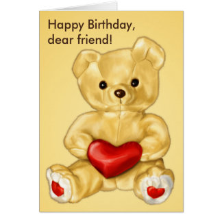 Cute Teddy Bear Hypnotist Friend Birthday Card