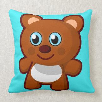 Cute Teddy Bear | Kid's Decorative Throw Pillow