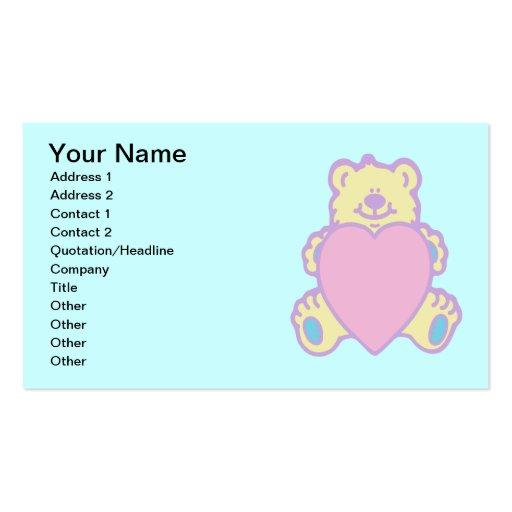 Cute Teddy Bear Love Heart Business Cards