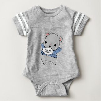 Cute Teddy Bear on Team Nap! Baby Bodysuit