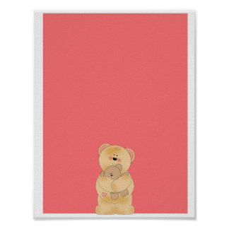Cute teddy bear poster
