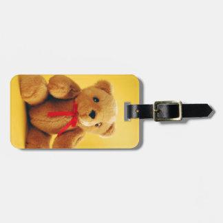 Cute teddy bear print luggage tag