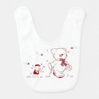 Cute Teddy Bear with Baby Bear bib 2