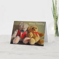Cute Teddy Bears Birthday Cards