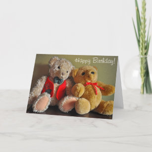Cute Teddy Bear Birthday Cards