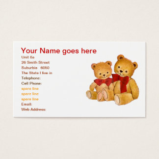 Cute Teddy Bears Business Card
