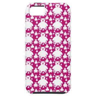 Cute Teddy Bears Pattern Mobile Case Pink Case For The iPhone 5