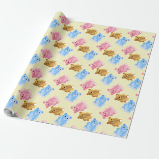 Cute Teddy Bears Pattern Wrapping Paper