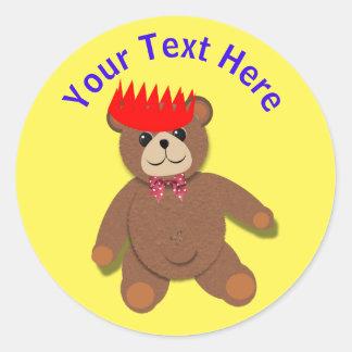 Cute Teddy Bears Picnic Fun Kids Birthday Party Round Sticker