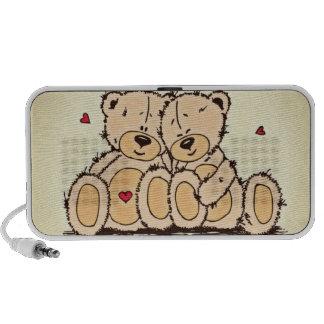Cute Teddy Bears Laptop Speaker