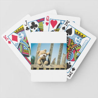 Cute Teddy Bicycle Playing Cards
