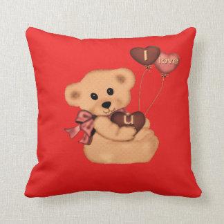 Cute teddy on a throw pillow