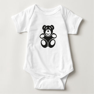 Cute Teddy with a Smile Baby Bodysuit