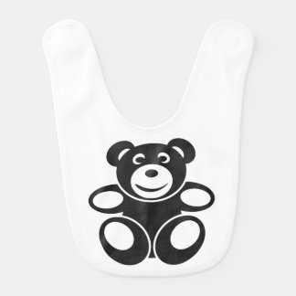 Cute Teddy with a Smile Bibs