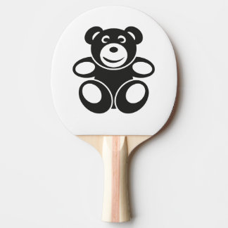Cute Teddy with a Smile Ping Pong Paddle