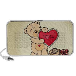 Cute Teddy with Heart Notebook Speaker