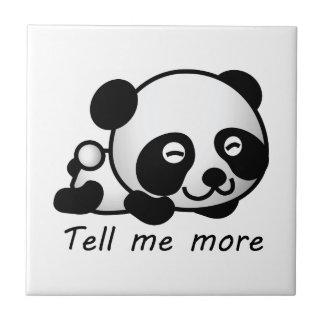 Cute Tell me more Panda Ceramic Tiles