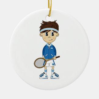 Cute Tennis Boy Ornament