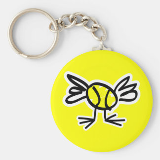 Cute tennis chick keychain gift