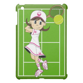 Cute Tennis Girl ipad Case