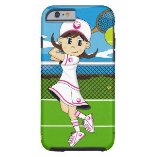 Cute Tennis Girl iPhone 6 case Tough iPhone 6 Case