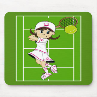 Cute Tennis Girl Mousepad