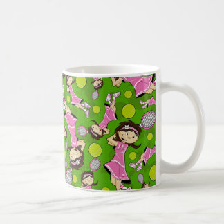 Cute Tennis Girl Mug