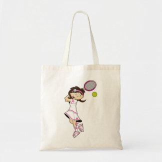 Cute Tennis Girl Tote Bag