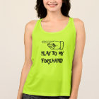 Cute tennis player and coach quote sports tank top