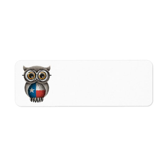 Cute Texas Flag Owl Wearing Glasses