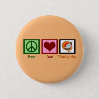 Cute Thanksgiving Orange 2 Inch Round Button