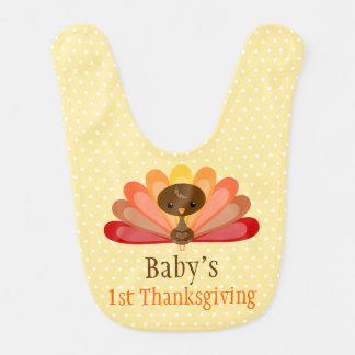 Cute Thanksgiving Turkey - Custom Baby Bib