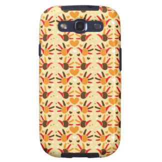 Cute Thanksgiving turkey hand prints pattern Galaxy SIII Covers