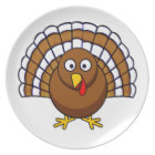 Cute Thanksgiving Turkey Plate