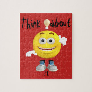 Cute Thinking Emoji Jigsaw Puzzle