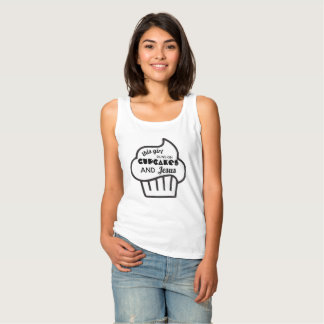 Cute This Girl Runs On Cupcakes And Jesus Top